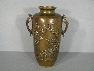 Vase Bronze Style Far East / Vase Antique Bronze China Japan Dragon