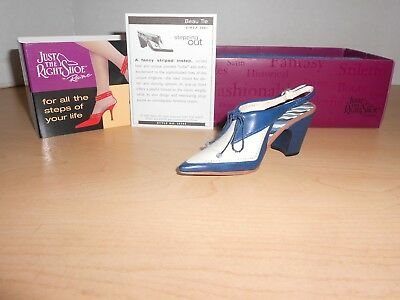 BEAU TIE-Just the Right Shoe Miniature - Never Displayed - NIB #2536
