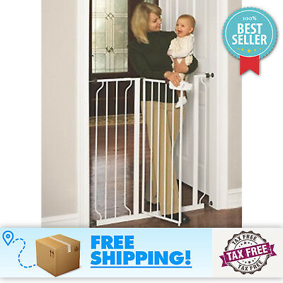 Regalo Easty Set Extra Tall Walk Thru Gate Baby Stair Infant Fence Dog Cat  Pet