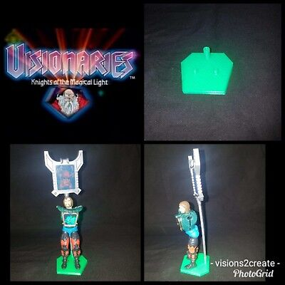 Visionaries knights of the magical light action figure stands (4) display toys