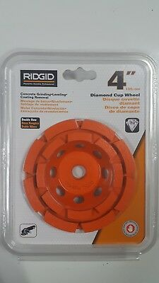 "Ridgid 4"" (105mm) Diamond Cup Wheel AWD40 Double Row, Wet/Dry *NIB*"