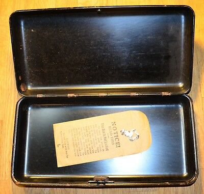 Antique 1930 Funeral Home Metal Safety Deposit Box w/ Key Bellevue PA Vintage
