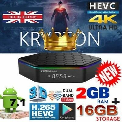 2018 T95Z Plus S912 ✅2GB ✅16GB Octa Core Android 7.1 Smart TV Box Dual WiFi 4K