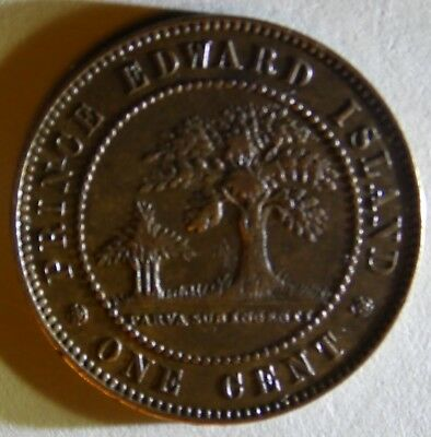 1871 Prince Edward Island one cent Very Nice condition circulated
