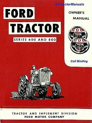 FORD 600 640 650 660 670 680 840 850 860 870  TRACTOR OWNER MANUAL Coil Bind