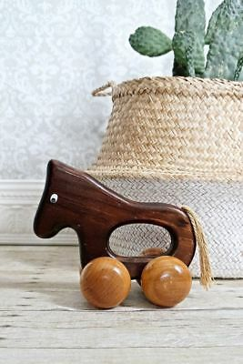 Vintage 70s // Handcrafted Solid Wood + Mid Century Horse Handmade Massager