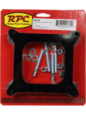 """RPC Phenolic Plastic, Carb Spacer, Open, Center, 1"""" Spacer, Fits Holley… (R9136)"""