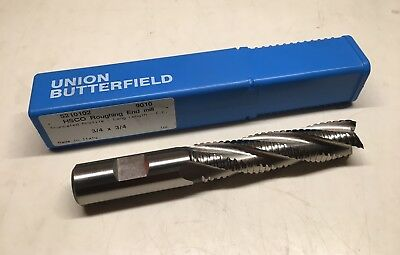 "Union Butterfield HSCO Roughing End Mill - 3/4"" x 3/4"" - 4FL Truncated Prof. NEW"