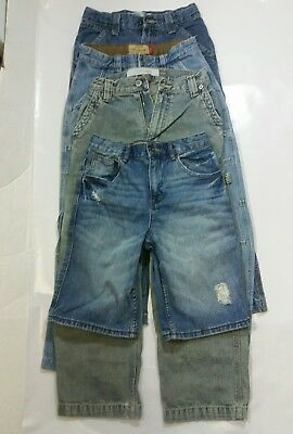 Lot of 4 Pairs Boys Kids Jeans Pants & Short Size 10, Levi, Old Navy