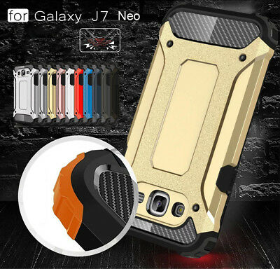 For Samsung Galaxy J7 Neo/ NXT, Rugged Hybrid Armor Shockproof Hard Cover Case