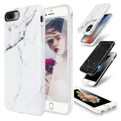 Marble Case Shockproof Hard PC Soft TPU Cover For iPhone XS Max XR X 8 7 6s Plus