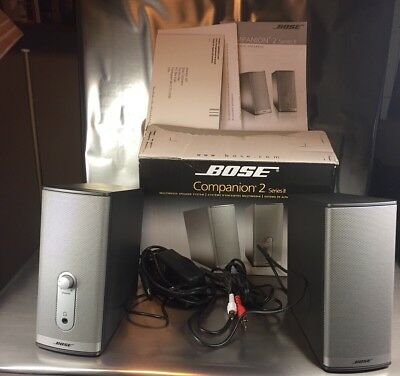 BOSE Companion 2 Series II Multimedia Speaker System w/power Cord RCA Jacks Box