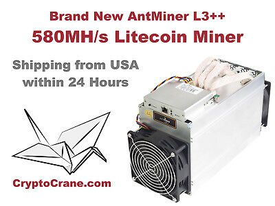 NEW Bitmain AntMiner L3+ 504 MH/s Litecoin LTC Miner In Hand Shipping Now