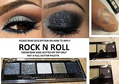 Beauty Treats ROCKNROLL GLITTER Eye Shadow Color Makeup Cream Eyeshadow Palette
