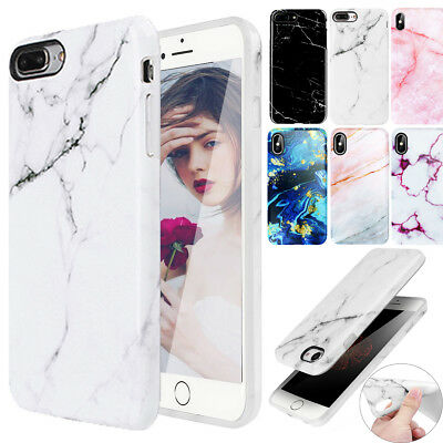 for iPhone X 8 7 6S Plus XS Max XR Case Marble Shockproof Soft TPU Rubber Cover