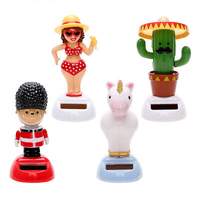 Girl Cactus Car Soldier Solar Powered Dancing Shaking Head Car Accessories QS1