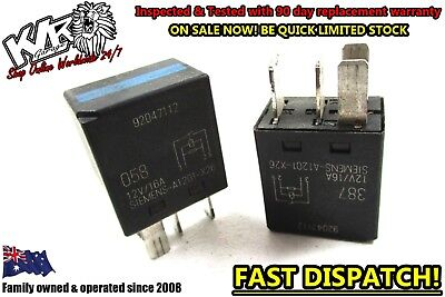 2 X HOLDEN GM 4 PIN BLACK TOP RELAY - 12v Sie 92047111 ...  Pin Micro Relay Wiring on