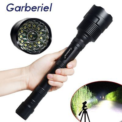150000LM 14x T6 LED 5Modes 18650 Led Flashlight Super Bright Torch Light Hunting