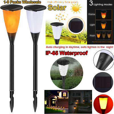 1-8 Pack Solar Pathway Lights Outdoor LED Garden Lawn Patio Yard Landscape Light