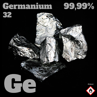 5 g Germanium Element - min. 99,99% - Halbmetall / Metaloid - 5 Gramm / gram