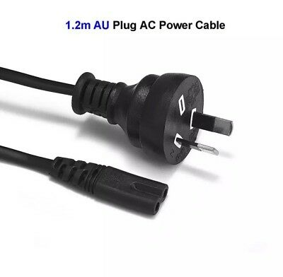 AU Plug 2 Pin 2Pin Laptop Adapter AC Power Cord Cable Lead 2 Prong