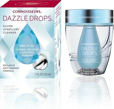Connoisseurs Dazzle Drops Silver Jewellery Cleaner Non Toxic! Safe on Gems.