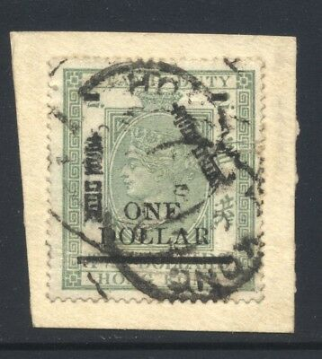 1898 Hong Kong QV Revenue Stamp $1 on $2 Used