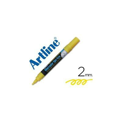 Rotulador Artline EPW-4 de color amarillo
