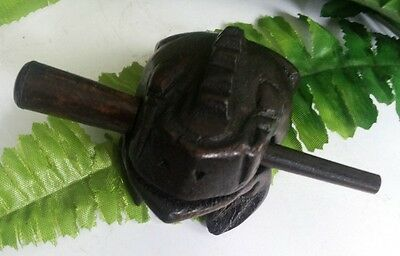 New hot Thai vintage wooden handcraft frog croaking sound 3 inches with stick