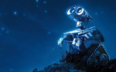 "030 WALL E - Pixar Eve Space Adventure Cartoon Movie 22""x14"" Poster"