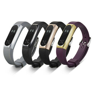 Replacement Silicone Bracelet Band Strap + Metal Frame For Xiaomi 2 Mi Band 2