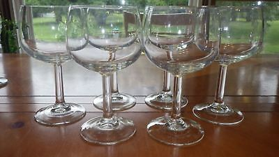 Clear Glass Red Wine Glasses Round Stem by Cristal D'Arques France 6 12oz stems