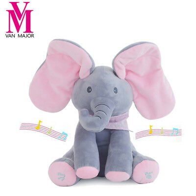 Electrical Elephant Plush 30cm Peek a boo Toy Play Hide and Seek Child Gift