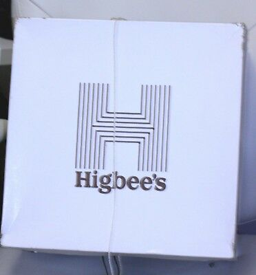 Vintage advertising Hat Box Hatbox HIGBEE'S Department Store square 14 x 14 x 7