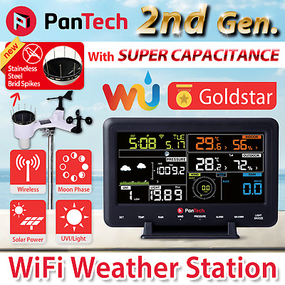 PANTECH WEATHER STATION Wifi Wireless Professional Solar Power UV WH 2950  PLS