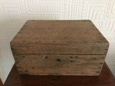 Great Antique Shabby Chic French Wooden Storage Box