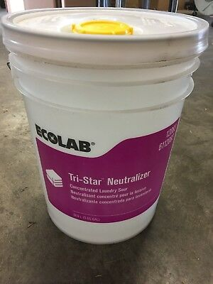 Ecolab 6112083 Tri-Star Laundry Neutralizer 5 Gallons NEW! FREE SHIPPING!