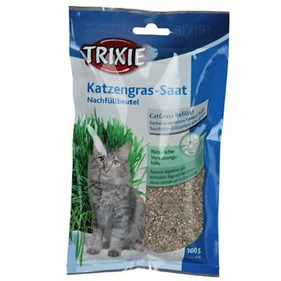 Trixie Grass Barley Seed Refill Bag 100g Instinct Hairball Prevention Cat Kitten