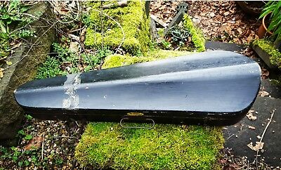 Violin Case Antique or Vintage Ebonised Wood Brass Cabinet Box for restoration