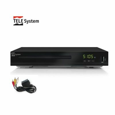 LETTORE DVD MPEG4 TELESYSTEM 28010030 VTS5105 UPSCALING FINO A 1080p HDMI/SCART