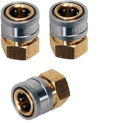 "Legacy 9.802-164.0-3PK Pressure Washer Hose Quick Coupler Socket 1/4"" FPT - 3 Pa"
