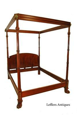 Queen Size Mahogany Canopy Bed By Baker Furniture