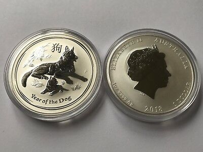 Silver Coin Australia Lunar II - Year of the Dog 2018 - 1oz 99.99% pure silver