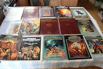 Advanced Dungeons and Dragons Books Job Lot Expansions 1990s ADD TSR Rules Loads