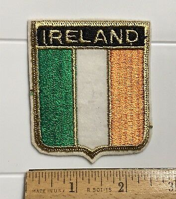 Ireland Irish Flag Red White Green Tricolour Souvenir Embroidered Patch Badge