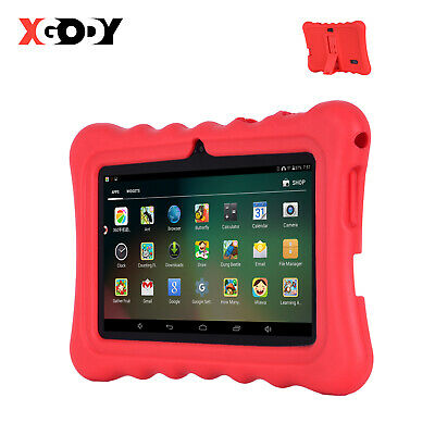 7'' Inch Android Tablet 8GB Quad Core Dual Camera Bluetooth Wifi for Kids XGODY