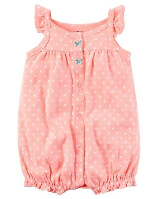 Carters Baby Girl Snap-Up Romper Neon Octopus Summer Outfit 3 6 9 12 Months NWT