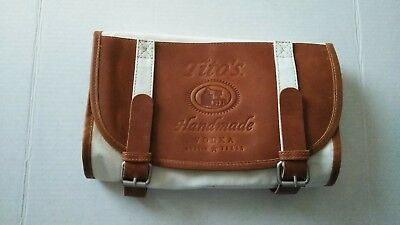 Tito's Vodka Roll Up Canvas and Leather Bag.
