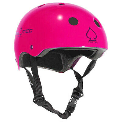 Protec Classic Roller Derby Skate Scooter Helmet - Gloss Pink
