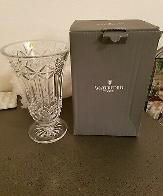 Waterford Crystal Balmoral Vase 10 Inch Made In Slovenia New In